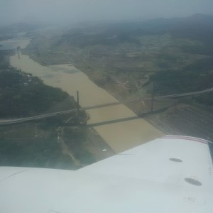 C-GKSX Overflying the Panama Canal