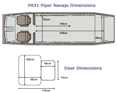 PA31 Piper Navajo Dimensions