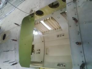 C-GMEC's freshly cut camera hole, May 2015